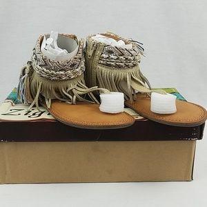 Zigi Soho Francesca Fringe Bohemian Flat Sandals